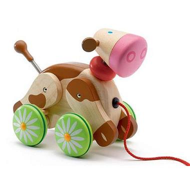Djeco, zabawka do ciągnięcia Krówka