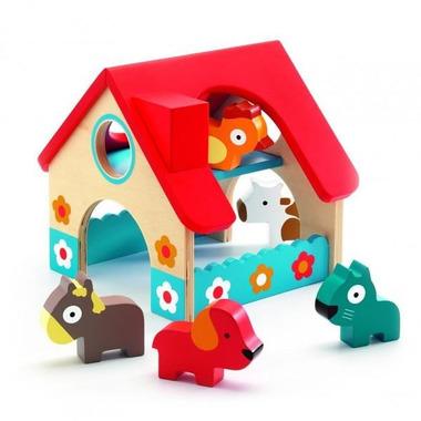 Djeco, drewniany domek ze zwierzętami