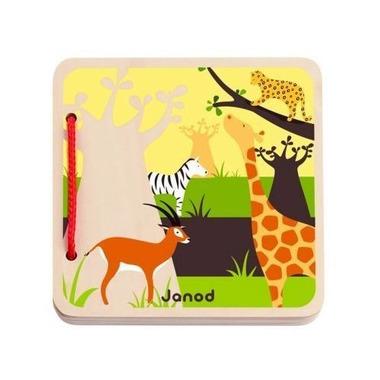 Janod, książeczka drewniana Savanna