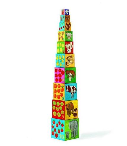 Piramida 10 kostek Djeco