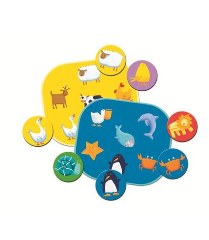 Gra edukacyjna kolorowe zwierzeta Djeco