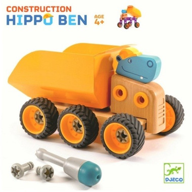 Djeco, skręcana wywrotka Hipopotam Hippo