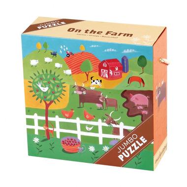 MUDPUPPY Puzzle JUMBO – 25 elementów-Na farmie