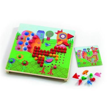 Djeco, gra edukacyjna kolorowe obrazki Mozaika zwierzeta