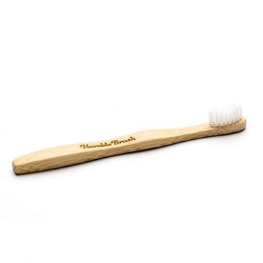 Humble Brush, Bambusowa szczoteczka do zębów dla dzieci, UltraSoft, biała