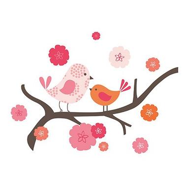 Skip Hop, naklejki na ścianę - Ptaszki