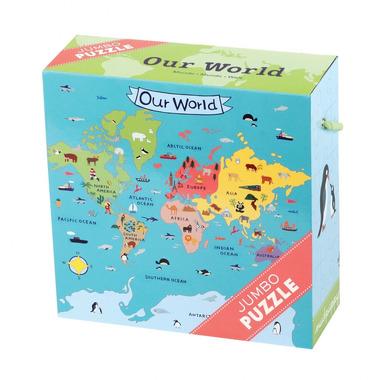 MUDPUPPY Puzzle JUMBO – 25 elementów-Kolorowy świat